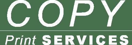 copy print services logo white