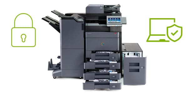 standing multifunction printer cyber safe